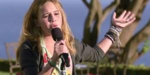 Beatrice Miller sings 'Titanium' by David Guetta - X Factor USA judges houses