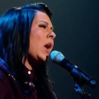 "Lucy Spraggan sings her own song ""Mountains"" in the X Factor live shows"