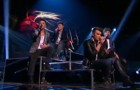 "Union J sing ""When Love Takes Over"" to screaming fans on X Factor live"