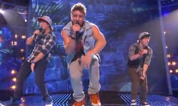 Emblem3 take on One Direction and Katy Perry in X Factor USA live