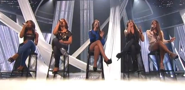 1432 change their name to Fifth Harmony and sing A Thousand Years on X Factor USA week 2